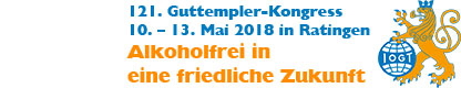 Guttempler-Kongress vom 10. bis 13. Mai 2018 in Ratingen