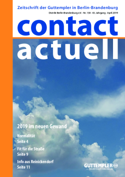 Contact Actuell 2019 01